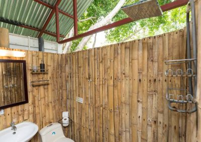 Clean and spacious bathroom at Danyasa Eco Retreat in Costa Rica