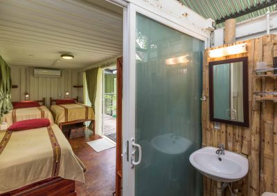 Private bathroom in your king suite at Danyasa Eco Retreat