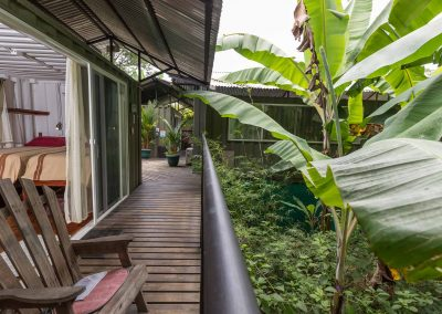 Greenery all around your room at Danyasa Yoga Retreat and Eco Lodge in Costa Rica